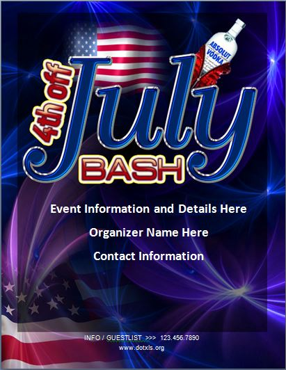 4th of July Bash Flyer