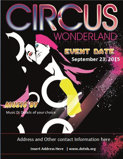 Circus Wonderland Flyer Template