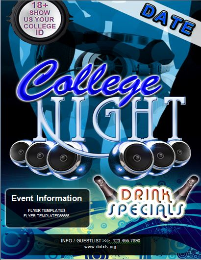 College Night Party Flyer