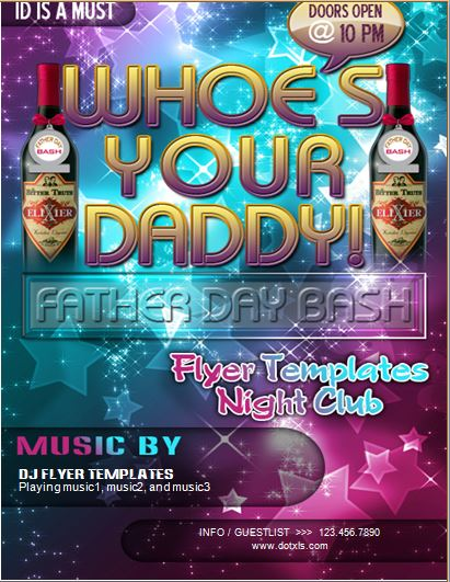 Father's Day Club Party Flyer