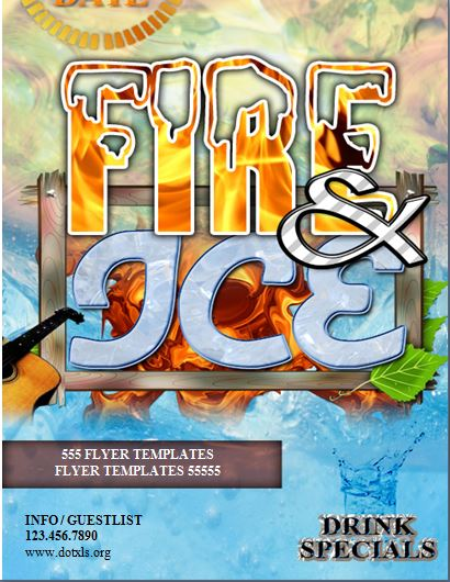 Fire and Ice Club Flyer