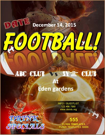Formal Football Event Flyer