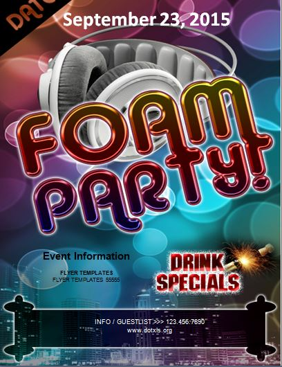 Form Party Flyer Template