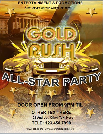 Gold Rush Party Flyer