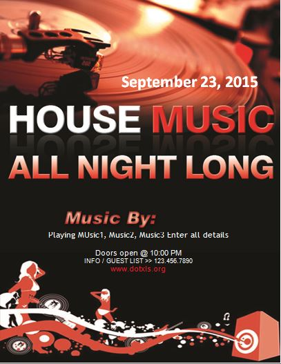 House Music Party Flyer