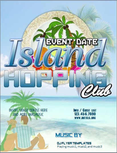 Island Hopping Club Flyer