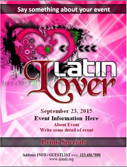 Latin Lovers Event Flyer