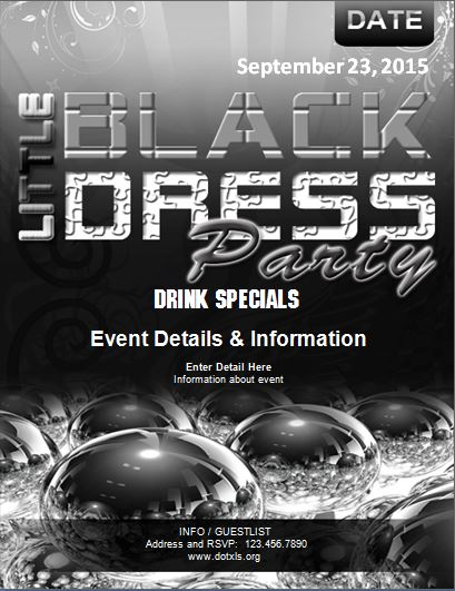 Little Black Dress Party Flyer
