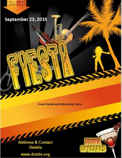 Mexican Fiesta Flyer