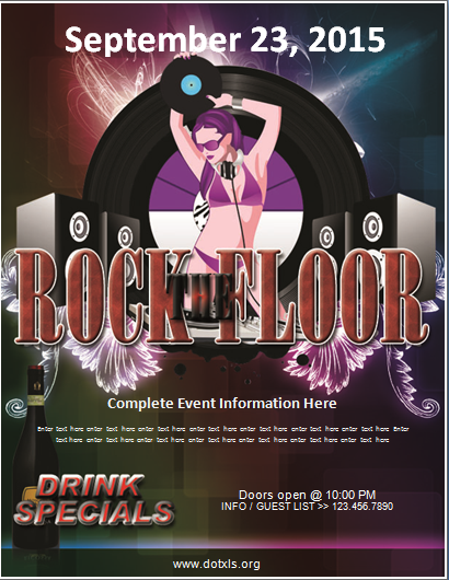 Rock the Floor Party Flyer