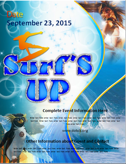 Surfs Up Party Flyer
