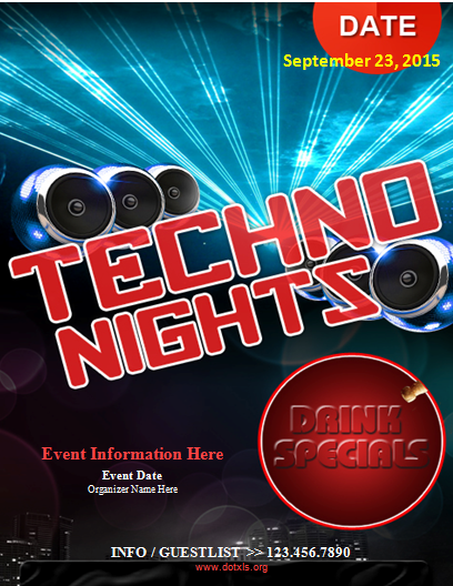 Techno Night Flyer