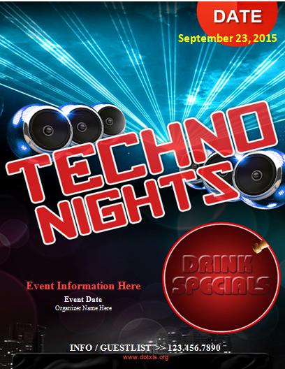 Techno Night Flyer