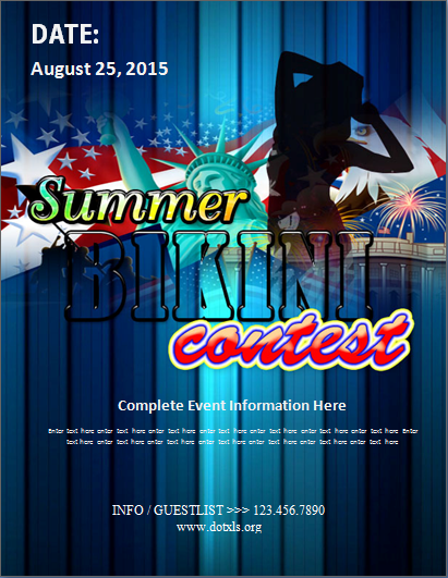 Summer Bikini Contest Flyer