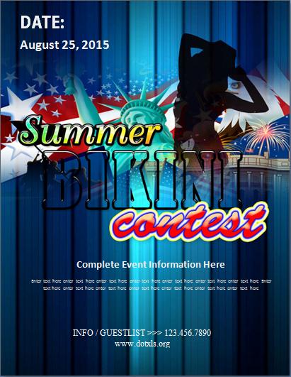 Summer Bikini Contest Flyer