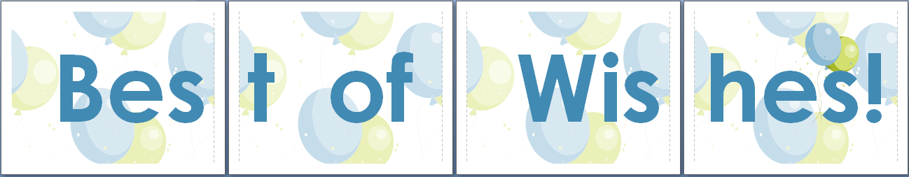 Best Wishes Banner Template