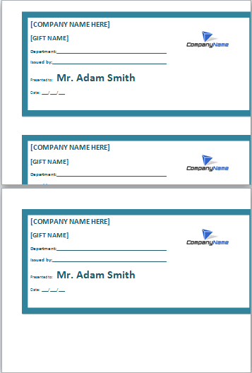 employee gift certificate template