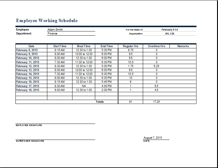 bill payment schedule template word excel templates