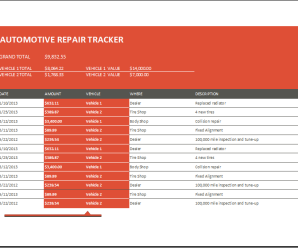 Automotive Repair Tracker