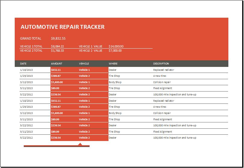 Automotive Repair Tracker