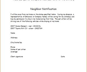 Neighbours Notification Template