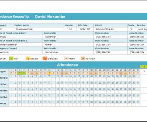 Student Attendance Record & Report Spreadsheet