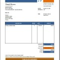 Music Performance Invoice
