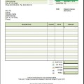 Yard Service Invoice