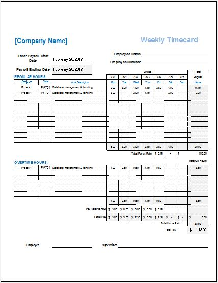 Employee time card templates for ms excel word excel templates time card template pronofoot35fo Image collections
