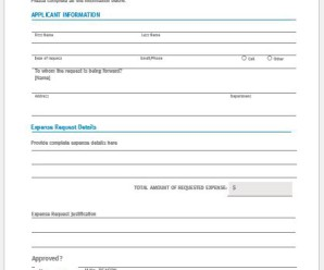 Business Expense Approval Form