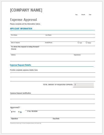Expense Approval Form