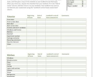Pre Rental Property Checklist