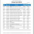 ms excel price list template word excel templates