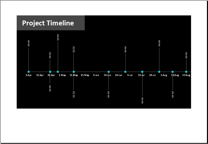 Project Timeline with Milestone template for Excel