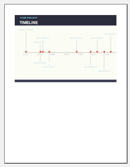 Company project timeline template