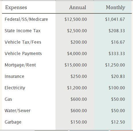 Personal Cash Flow Statement for Excel